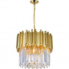 Deco 4 Light 16 inch Medallion Gold Down Chandelier Ceiling Light