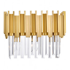 Deco 3 Light 17 inch Medallion Gold Vanity Light Wall Light