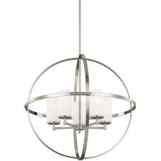 Alturas 5 Light 27 inch Brushed Nickel Chandelier Ceiling Light