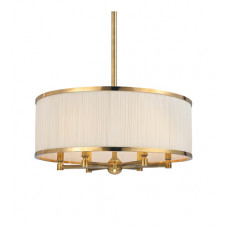 Hastings 6 Light 24 inch Aged Brass Chandelier Ceiling Light