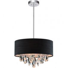 Dash 4 Light 18 inch Chrome Drum Shade Chandelier Ceiling Light