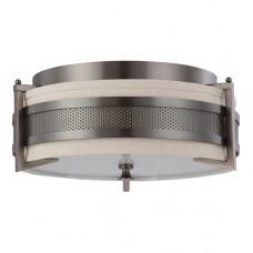 Diesel 3 Light 16 inch Hazel Bronze Flush Mount Ceiling Light