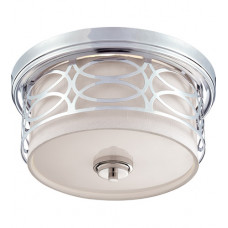 Harlow 2 Light 13 inch Polished Nickel Flush Mount Ceiling Light