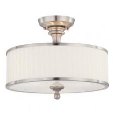 Candice 3 Light 15 inch Brushed Nickel Semi Flush Mount Ceiling Light