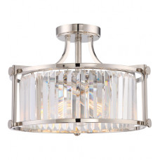 Krys 3 Light 18 inch Polished Nickel Semi Flush Mount Ceiling Light