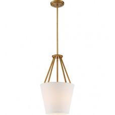 Seneca 3 Light 12 inch Natural Brass Pendant Ceiling Light