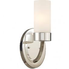 Denver 1 Light 5 inch Polished Nickel Vanity Light Wall Light
