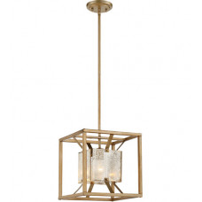 Stanza 1 Light 12 inch Antique Gold Pendant Ceiling Light