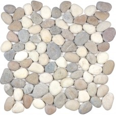 Zen Pebble Mosaics Natural Pebbles Harmony  Warm Blend