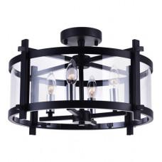 Miette 4 Light 18 inch Black Cage Flush Mount Ceiling Light