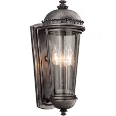 Ambassador 3 Light 18 inch Aged Pewter Outdoor Wall Lantern