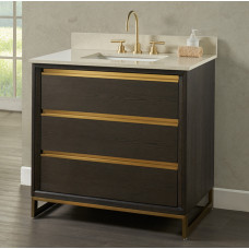 Ambassador 36″ Vanity – Burnt Chocolate
