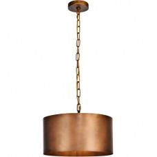 Miro 1 Light 15 inch Manual Brass Pendant Ceiling Light