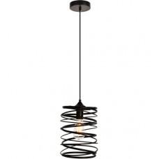 Hopper 1 Light 8 inch Black Pendant Ceiling Light