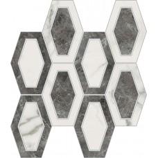 Imperial Michelangelo Bianco Carrara and Grigio Visone Losanga Polished