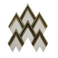 MG824 – Aurora Herringbone Gold Marble Mosaic